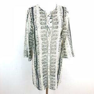 CAbi Beatnik Tunic Top Lace-Up Sheer Style #867